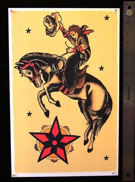 school bucking horse  cowboy tattoos pinterest