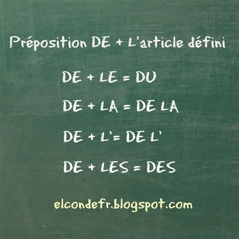 Attention aux articles contractés! | French flashcards ...
