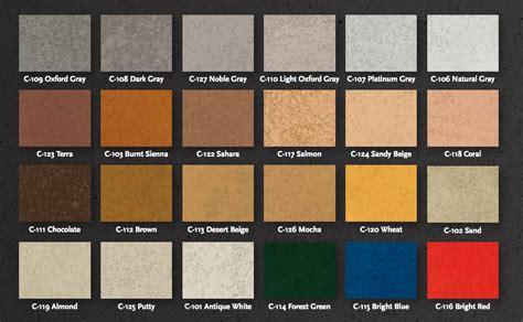 color chart concrete repair boise idaho concrete