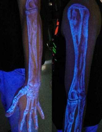 ink that shows up under black light glow in the dark tattoo ink