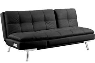 black leather futon sleeper palermo serta modern lounger the futon shop