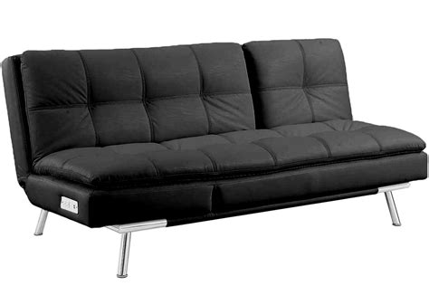 black leather sofa futon black leather futon sleeper palermo serta modern lounger