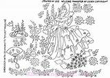 Embroidery Hand Patterns Crinoline Lady Garden Designs Pattern Knitting Reading Sewing Southern Embroidered Needlework Colonial Ribbon Machine Flowers Coloring Stitchery sketch template