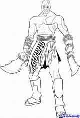 Kratos Coloring Pages God War Draw Getcolorings Printable Step Cratos Drawing Credit Larger sketch template