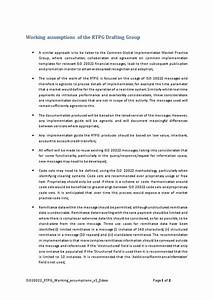 Working Assumptions Of The Rtpg Drafting Group