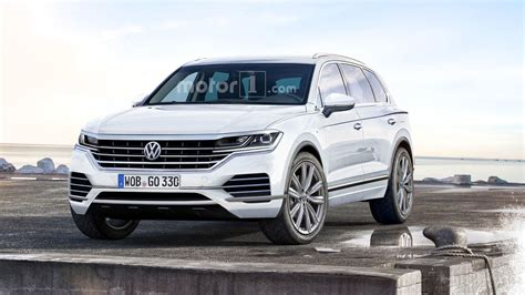 vw touareg 2018 2018 vw touareg rendered with more upscale cues