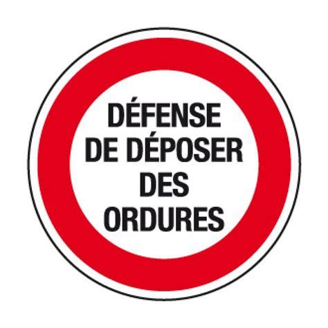 vitrophanie bureau cr20 panneau défense de déposer des ordures panneau