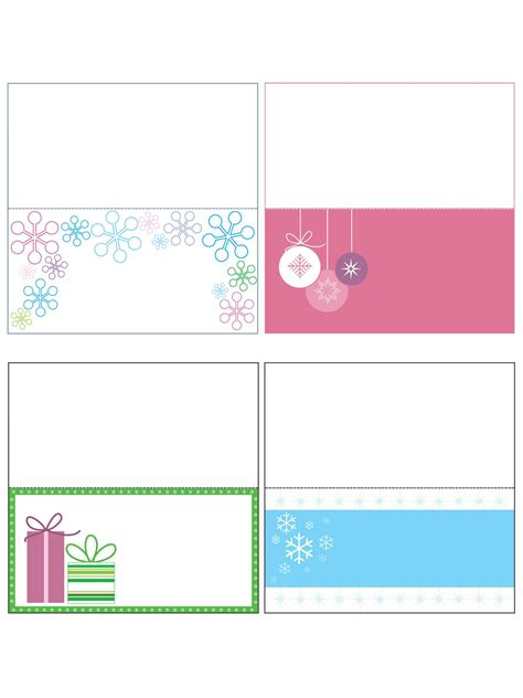 Place Card Templates Freechristmas Template Free Templates Printable Gift Tags Cards