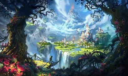 Floating Island Castle Saga Suicune Wormworld Wallpapers
