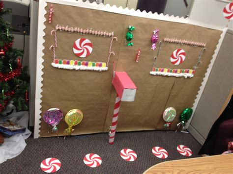 decorate your cubicle for christmas with dollar store