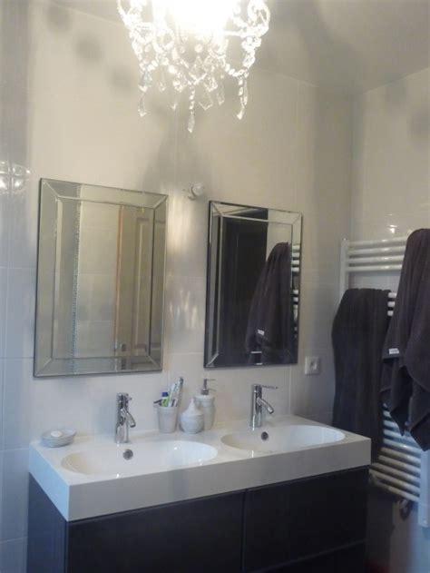 salle de bain photo 1 4 lustre maison du monde meuble ikea miroirs