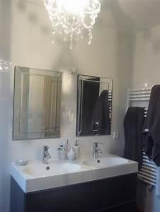 Meuble De Salle De Bain Maison Du Monde : salle de bain photo 1 4 lustre maison du monde meuble ikea miroirs ~ Melissatoandfro.com Idées de Décoration