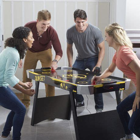 franklin sports quikset air hockey table franklin sports 54 inch quikset air hockey table walmart ca