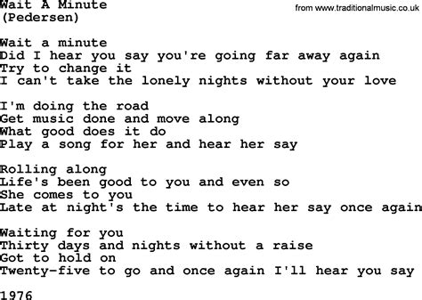 Wait A Minute By The Byrds Lyrics With Pdf
