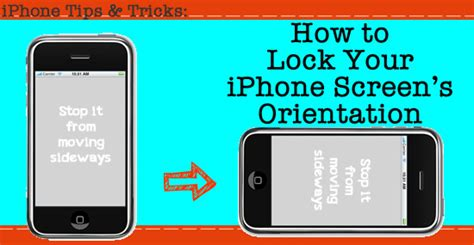 how to a locked iphone how to lock your iphone screen from turning sideways