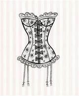 Corset Corsets Lingerie Lace Pages Coloring Mannequins Clip Mayme Floral Zentangle Doodles Google Retro Dibujo Es Ladies Corse Dessiner Un sketch template
