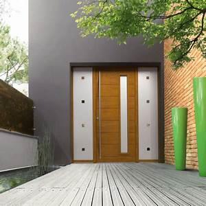 Porte D Entrée En Bois Moderne : porte d 39 entr e contemporaine bremaud ~ Nature-et-papiers.com Idées de Décoration