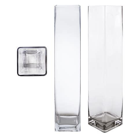 Square Vases by Mega Vases 4 Quot X 20 Quot Cube Square Glass Vase Set Of 1