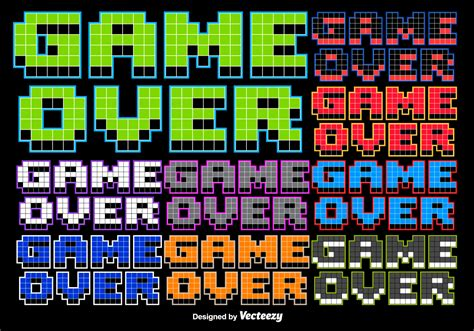 bit game  stylized message   vectors