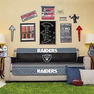 nfl oakland raiders sofa cover bed bath beyond With nfl furniture covers