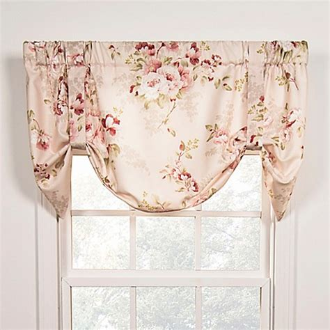 tie up valance chatsworth tie up window valance bed bath beyond