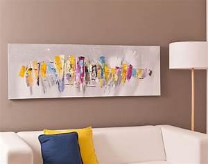Tableau Salon Design : tableau panoramique motif abstrait becquet ~ Teatrodelosmanantiales.com Idées de Décoration