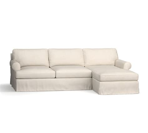 townsend roll arm left chaise sofa sectional slipcover