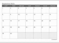 Calendrier septembre 2015 à imprimer iCalendrierfr