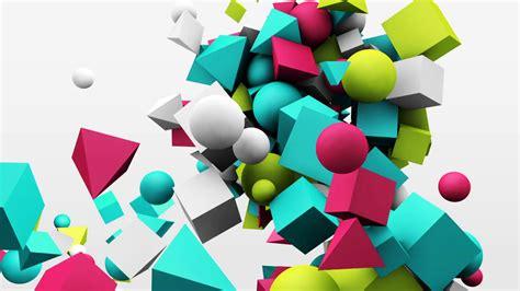 Shapes Background 3d Motion Graphics Dynamic Geometric Shape Cubes Cones