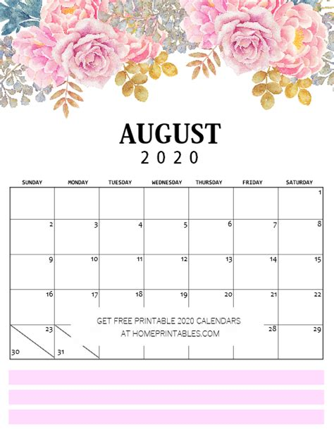 snag   calendar  printable   glorious florals