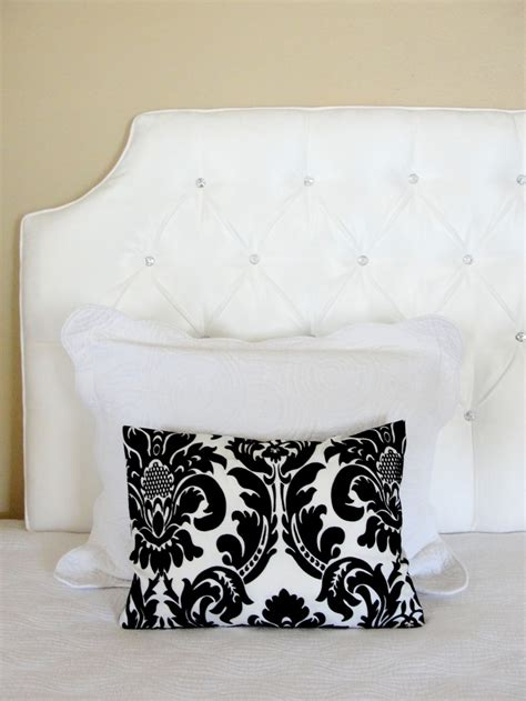 White Headboard With Crystals by White Tufted Headboard Glass Rhinestone Buttons