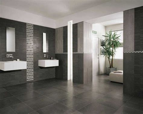 stylish bathroom ideas modern bathroom floor tile ideas with black color home