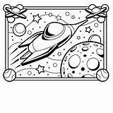 Coloring Spaceship Printable Pages sketch template