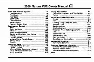 2008 Saturn Vue Owners Manual