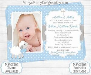 Baptism Invitations For Boys : Christening Invitations For ...