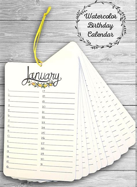 birthday calendar templates  google docs ms