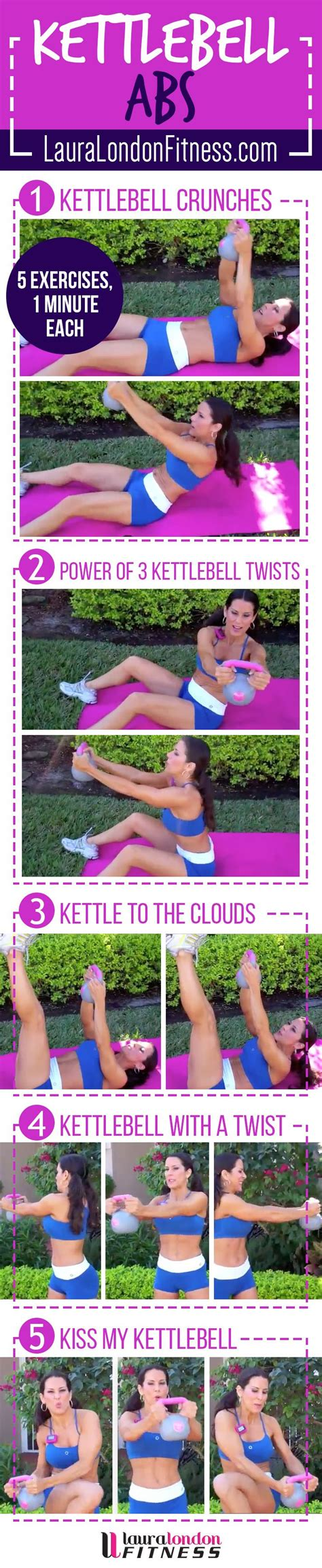 kettlebell exercises ab workout abs workouts kettle bell core fitness minute training toning exercise tone laura london fitfluential kettlebells done