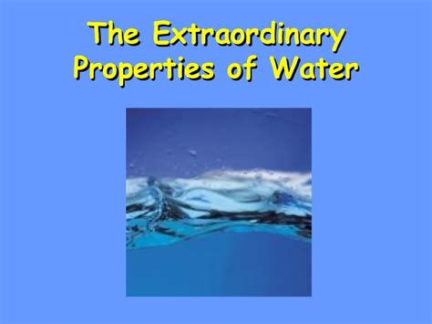 Unit 3 Water Properties Power Point