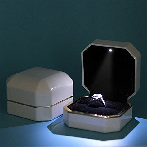 Ring Box With Light by Ring Box Asaps Square White Velvet Wedding Ring Box With