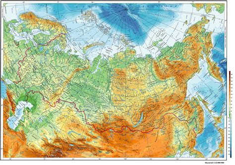 Гипсометрическая карта России