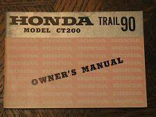 Honda Trail 90 Manual