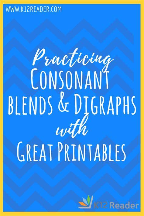consonant blends  digraphs printable activities kreader