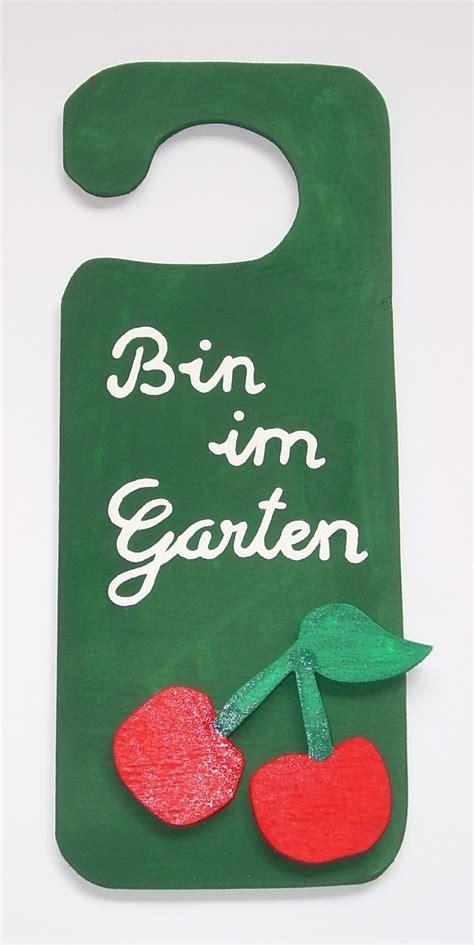 """Türanhänger """"bin Im Garten""""  Originelle Deko & Geschenke"""