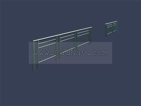 Metal balustrade 3d model 3Ds Max files free download