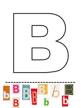 cut  paste alphabet book  letters  pinterest