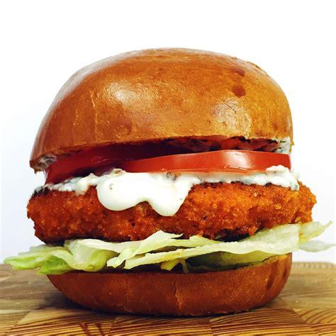 hamburger ideas buffalo chicken burger with blue cheese ranch recipe