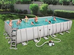 Grande Piscine Tubulaire : grande piscine tubulaire rectangulaire 7 32 x 3 66 x hauteur 1 32 m bestway brycus ~ Mglfilm.com Idées de Décoration