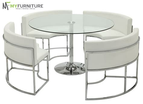 hideaway dining table and chairs round glass dining table and white chair set hideaway ebay