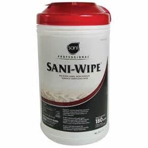 Plastic Kitchen Canisters And Surface Sanitizing Wipes Sani Wipes