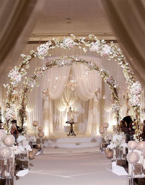 62 extravagant white indoor wedding ceremony 8 agilshome